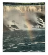 Middle America Rainbow Fleece Blanket