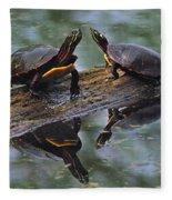 Midland Painted Turtles Fleece Blanket