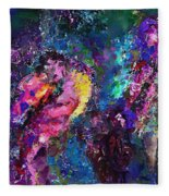 Midnight Kiss  Fleece Blanket
