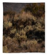 Midnight Sage Brush Fleece Blanket