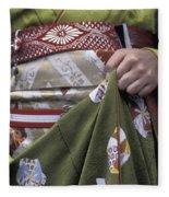 Midsection Of Apprentice Geisha - Maiko Fleece Blanket
