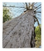 Mighty Tree And The Bark Beetle Fleece Blanket