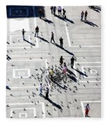 Milan Duomo Square Fleece Blanket