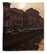 Milan Naviglio Grande Fleece Blanket