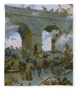 Milanese Chasing Out Austrians Fleece Blanket