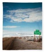 Milepost At The Dempster Highway Fleece Blanket