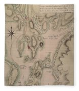 Military Plan Of The North Part Of Rhode Island Fleece Blanket