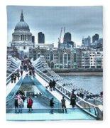 Millennium Bridge And St Paul's Cathedral Fleece Blanket