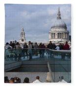 Millennium Footbridge Fleece Blanket