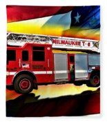 Milwaukee Truck 6 Fleece Blanket
