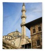 Minaret Of The Blue Mosque Fleece Blanket