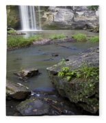 Minneopa Falls 36 Fleece Blanket