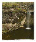 Minneopa Falls 39 Fleece Blanket