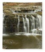 Minneopa Upper Falls 18 Fleece Blanket