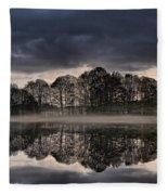 Mirrored Trees Fleece Blanket