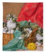 Mischievous Kittens Fleece Blanket