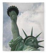 Miss Statue Of Liberty Fleece Blanket