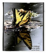 Missing You - Butterfly Fleece Blanket