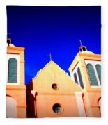 Mission Church Silver City Nm Fleece Blanket