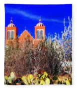 Mission In Silver City Nm Fleece Blanket