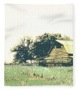 Mississippi Farm Old Highway 61  Fleece Blanket