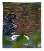 Missy Wood Duck Fleece Blanket