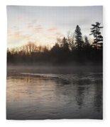 Mist Over The Mississippi Fleece Blanket