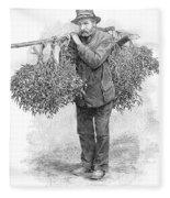 Mistletoe Gatherer, 1894 Fleece Blanket