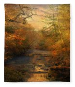 Misty Autumn Morning Fleece Blanket