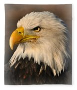 Misty Eagle Fleece Blanket