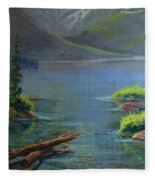 Misty Lake Fleece Blanket