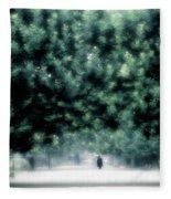 Misty Parisian Park 2 Fleece Blanket