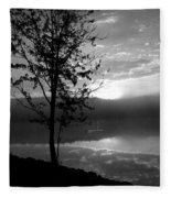 Misty Reflections Bw Fleece Blanket