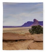 Mitchell Butte From Mystery Valley Fleece Blanket