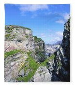 Mizen Head, Ivagha Peninsula, Co Cork Fleece Blanket