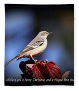 Mockingbird Holidays Fleece Blanket
