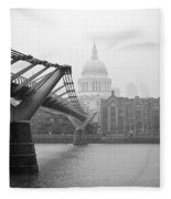 Modern And Traditional London Fleece Blanket