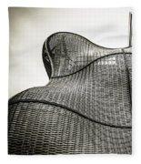 Modern Basket Weaving In London Fleece Blanket