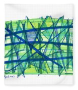 Modern Drawing Ninety-nine Fleece Blanket