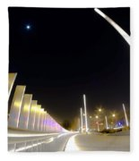 Modern Street Lighting Fleece Blanket