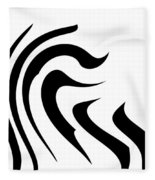 Modern Zebra  Fleece Blanket