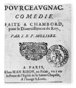 Moliere (1622-1773) Fleece Blanket