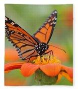 Monarch Butterfly Macro Fleece Blanket