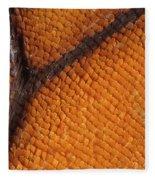 Monarch Butterfly Wing Scales Fleece Blanket
