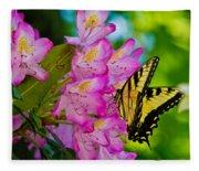 Monarch Of Blowing Rock Fleece Blanket