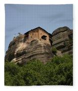 Monastery Of Saint Nicholas Anapafsas Fleece Blanket