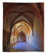 Monastery Passageway Fleece Blanket