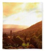 Monastic Site, Glendalough, Co Wicklow Fleece Blanket