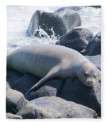 Monk Seal Fleece Blanket