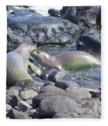 Monk Seals Fleece Blanket